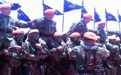 Petinggi TNI dan Polri Jadi Warga Kehormatan Korpaskhas TNI AU