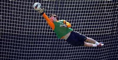Lionel Messi Menjadi Kiper