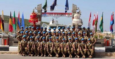 Prajurit di Lebanon Rayakan HUT Ke-66 TNI AU