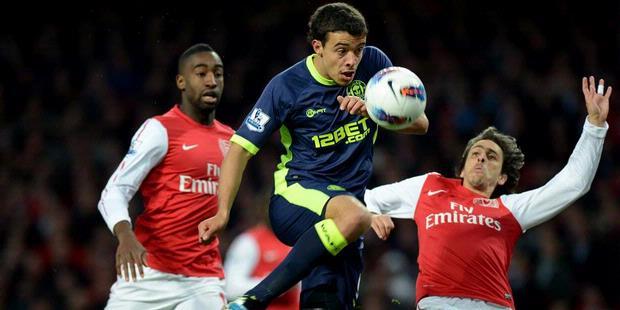 Arsenal vs wigan skor 1-2