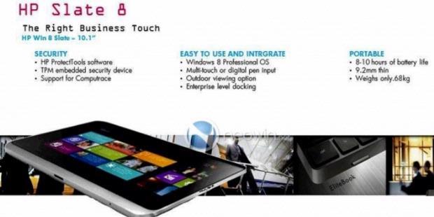 Harga Spesifikasi Tablet Hp Slate 8 Terbaru 2012