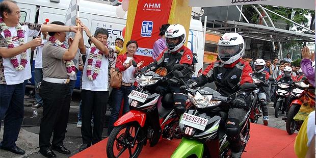 Honda Revo Dikebut 6.318 Km Keliling Indonesia