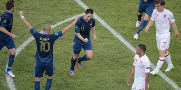 Cuplikan Video Gol Prancis vs Inggris 11 Juni 2012  1-1 EURO 2012
