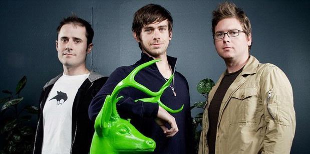 Para pendiri Twitter. Dari kiri ke kanan: Evan Williams, Jack Dorsey, dan Biz Stone.