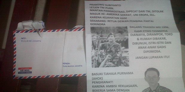 Serangan Kampanye Hitam Ke Prabowo Dan Ahok 2012