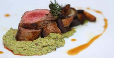 Grilled Lamb with Pistachio Puree