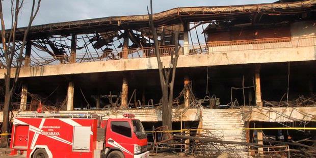 Kondisi Pasar Turi setelah terbakar pada 2012