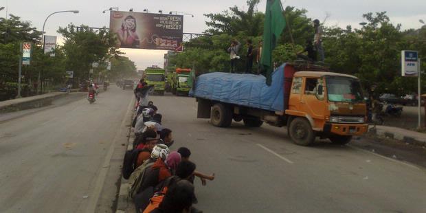 Demo Anti-Israel di Makassar Berujung Tawuran