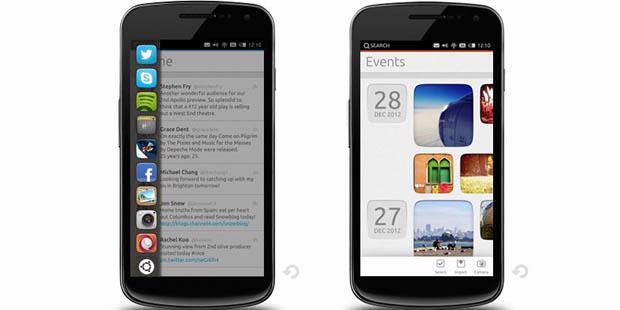ilustrasi Smartphone Berbasis Ubuntu