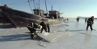 Laut Membeku, 1.000 Kapal di China Terjebak
