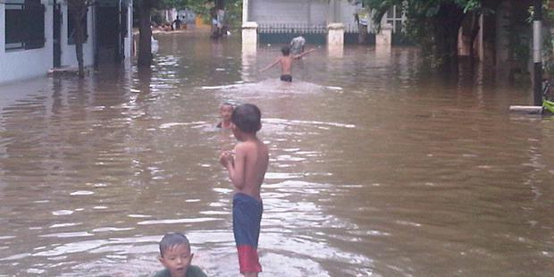 Tembok Waduk Dijebol, Banjir Rendam Cipinang Melayu