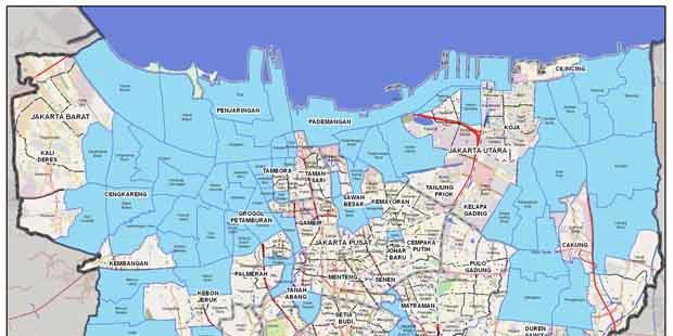 Ini Dia, Peta Digital Banjir Jakarta Hari Ini