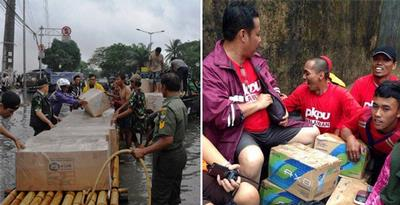 Ragam Cara Berbagi, Peduli Korban Banjir