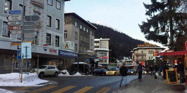 Kota davos-klosters, swiss, yang merupakan kota tertinggi di eropa