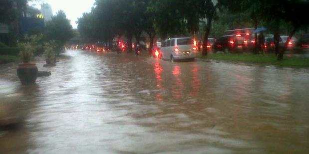 Hujan Deras Timbulkan Genangan, Sungai Aman