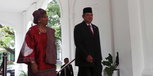 Presiden SBY Terima Presiden Liberia