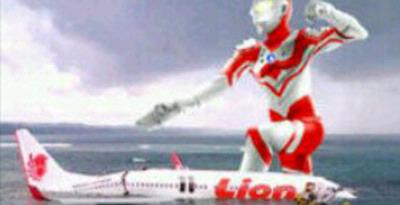 "Pengguna Blackberry Kecam Foto ""Ultraman-Lion Air"""