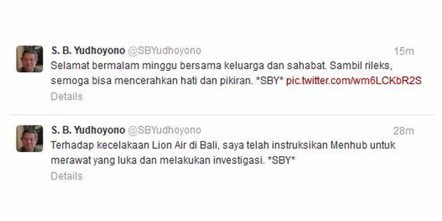 "Ini ""Tweet"" Perdana SBY"