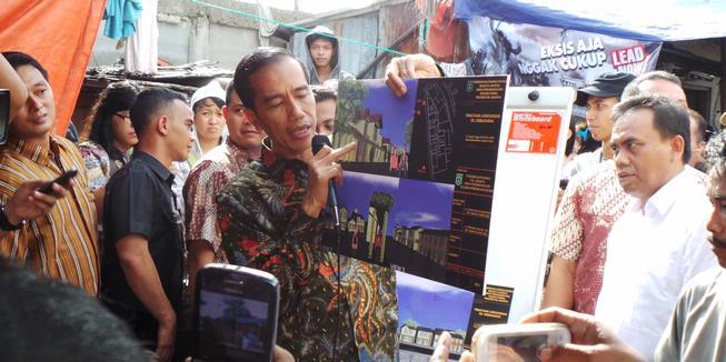 Jokowi Tata Tanah Tinggi Tanpa APBD