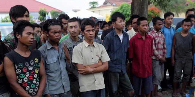 """FOTO: Buruh Korban """"Perbudakan"""" di Tangerang"""