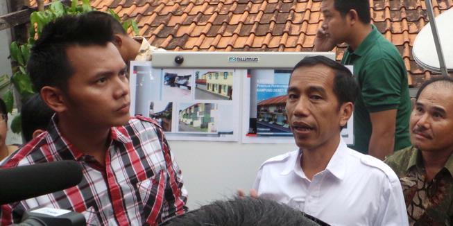 "Jokowi ""Blusukan"" ke Petogogan, Warga Terkejut"
