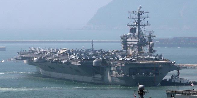 Kapal Induk Nimitz Pimpin Latgab AL AS dan Korsel