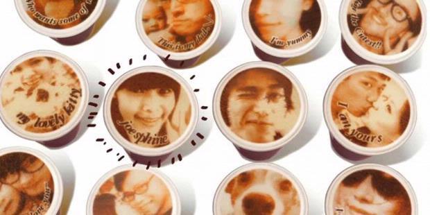 Cetak foto di atas coffe latte !