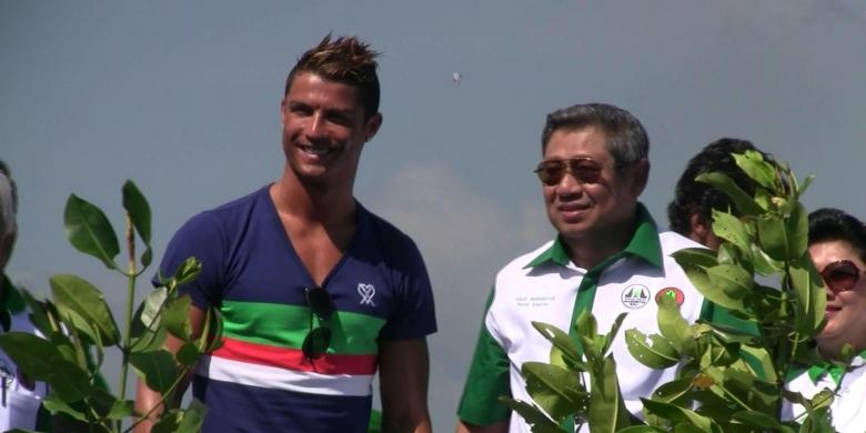 Bintang Real Madrid. Cristiano Ronaldo dan Presiden SBY
