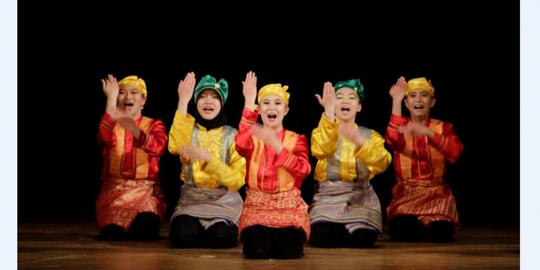 /KOMPAS.com Pementasan Tari Saman dalam drama kolosal Malin Kundang