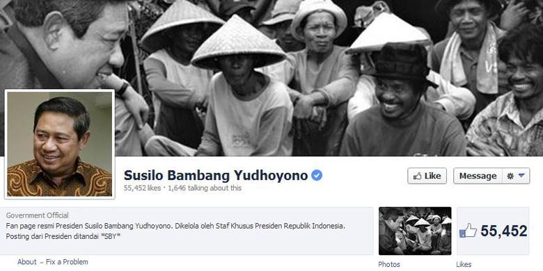 akun Facebook Susilo Bambang Yudhoyono