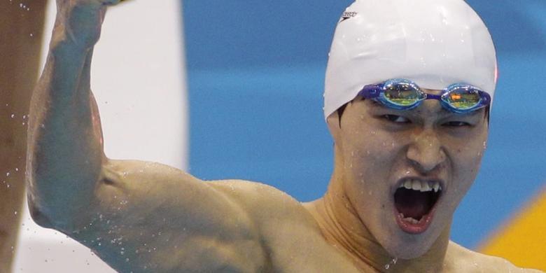 Sun Yang Tetap Juara di Nomor 400 Meter
