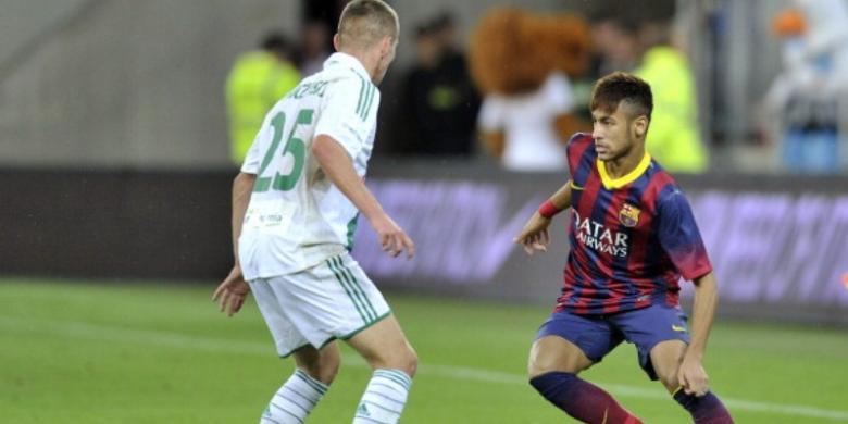 Judi bola - Kebahagiaan Neymar dalam Debut Bersama Barca