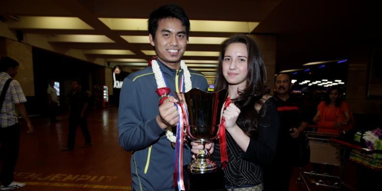 Tontowi Ahmad dan Michelle Nabila Harminc