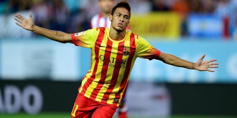 Judi bola - Neymar Selamatkan Barca di Vicente Calderon
