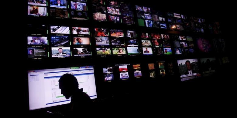 Ilustrasi industri televisi. (Priyombodo/Kompas.com)