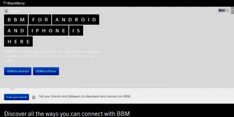 Inikah Situs Resmi BBM Android dan iPhone?
