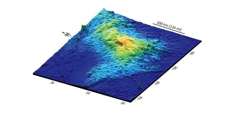 Gunung berapi raksasa di bawah laut Bengkulu