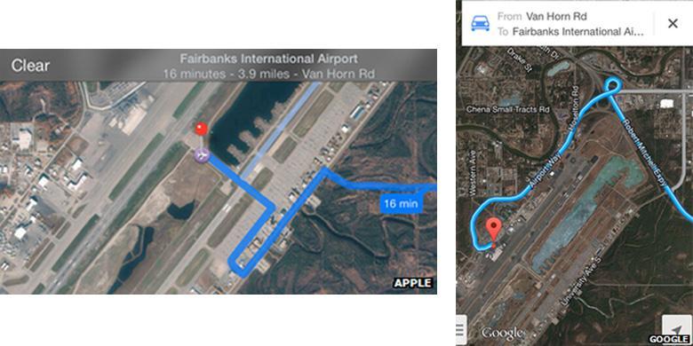 Apple Maps Sesatkan Pengemudi ke Landas Pacu Bandara