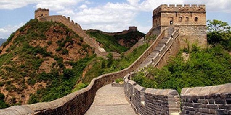 sepertiga bagian tembok besar china telah hilang