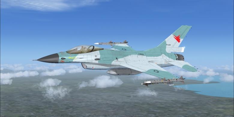Dua F-16 TNI AU Usir Hercules Malaysia di Natuna