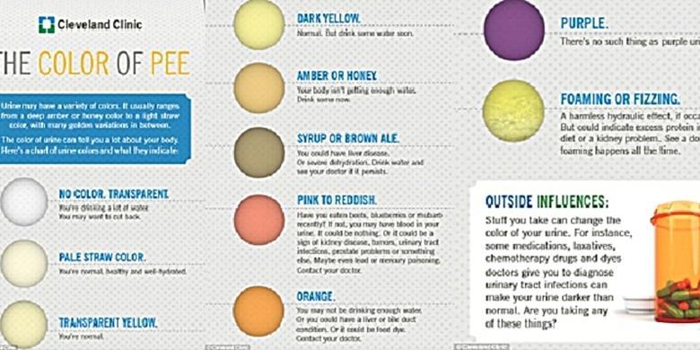 Warna Urine Ungkap Status Kesehatan Anda