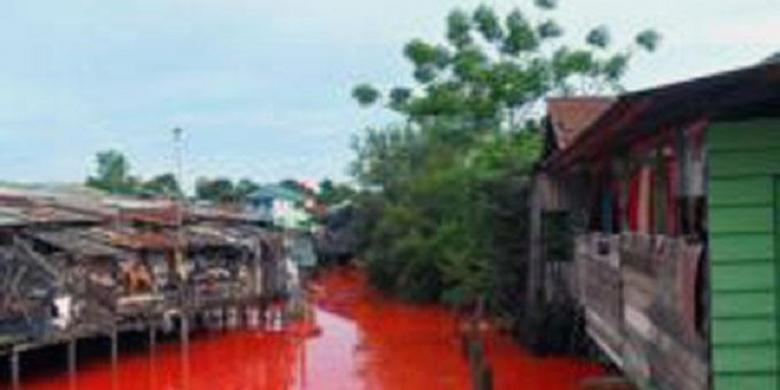 Sungai Merah Bontang Sungai di Bontang Mendadak