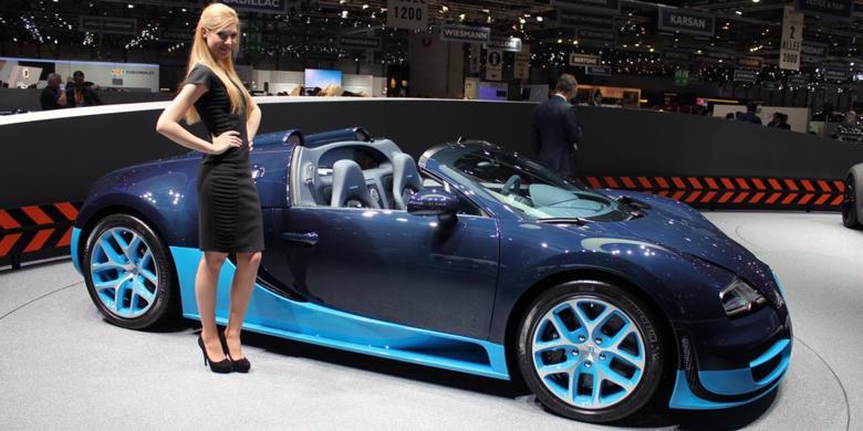 bugatti pamerkan veyron unit ke 450 di geneva. Black Bedroom Furniture Sets. Home Design Ideas