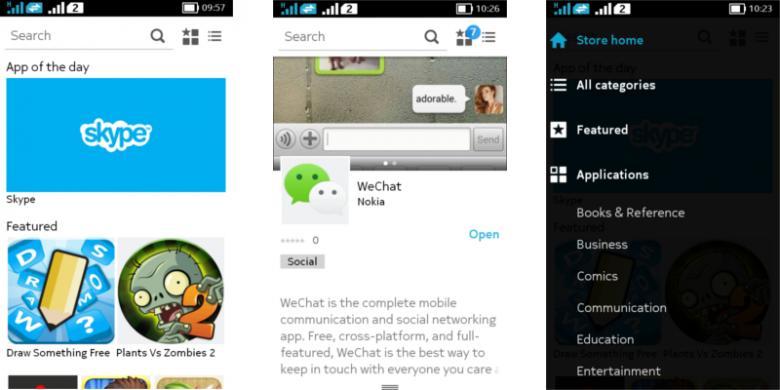 1529126Tampilan toko aplikasi Nokia Store yang menyediakan aplikasi Android format APK780x390 Ini Review dan Penampakan Android Nokia X Terbaru 2014