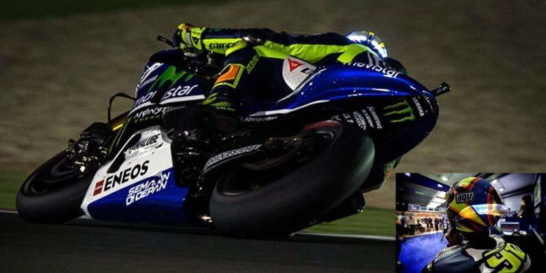 Helm Unik Rossi di MotoGP Qatar - Kompas.com