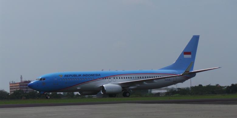 (FOTO) PESAWAT KEPRESIDENAN RI RP 847 MILIAR AKHIRNYA TIBA DI INDONESIA