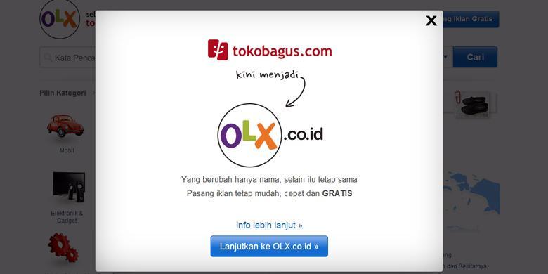 Berita terbaru: Tokobagus Ganti Nama Jadi OLX Indonesia