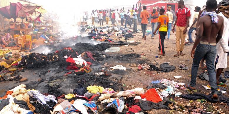 Bom Ganda Guncang Sebuah Pasar di Nigeria, 45 Tewas