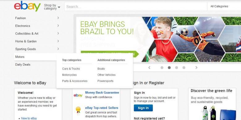 Basis Data Informasi Pengguna Diretas, eBay Minta Pelanggan Ganti