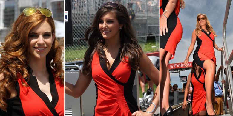 Crash f1 kanada 2014 grid girls